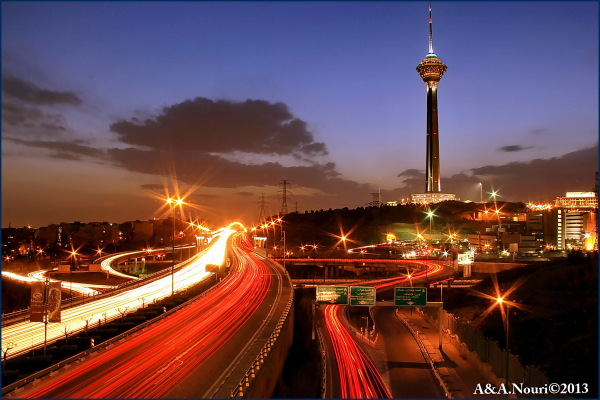 Milad tower in twilight