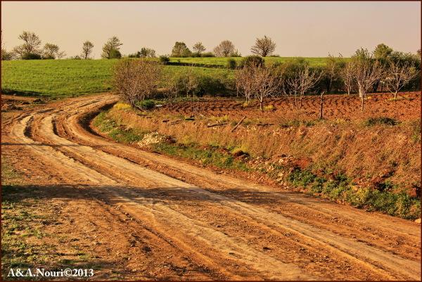 Road to Vezvar village