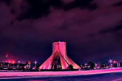 Azadi tower at night