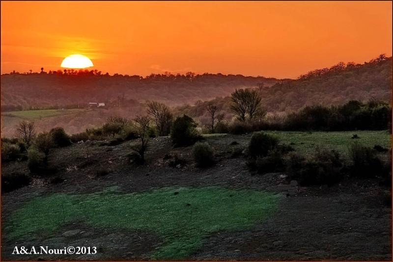 sunset on distance