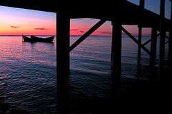 sunset of the beach