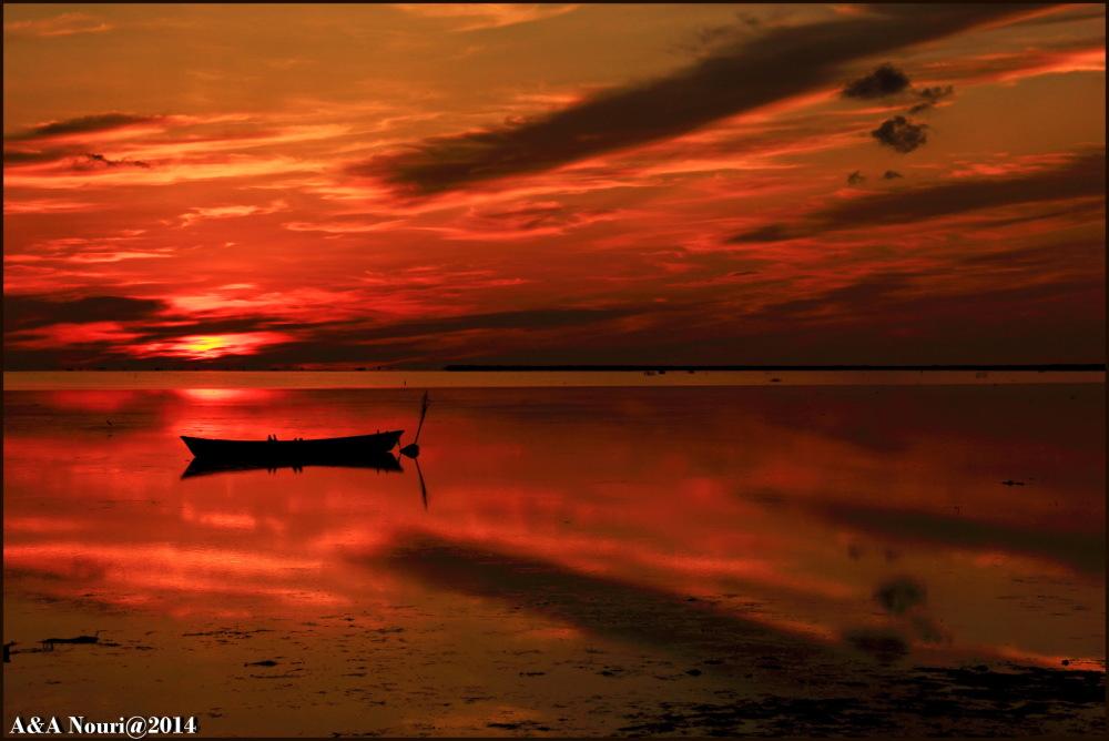 fiery reflection