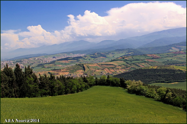high view of Gorgan