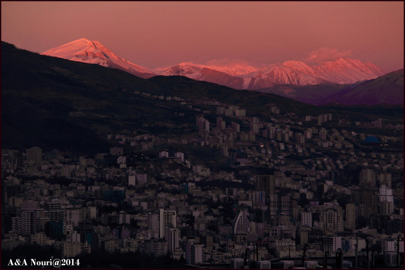 Damavand and Tehran