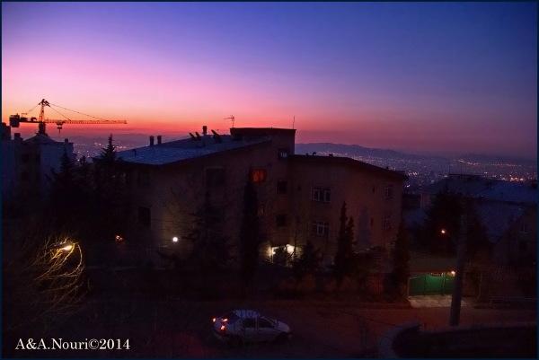 dawn colors of Tehran