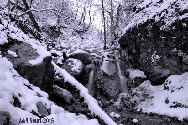 river through winter