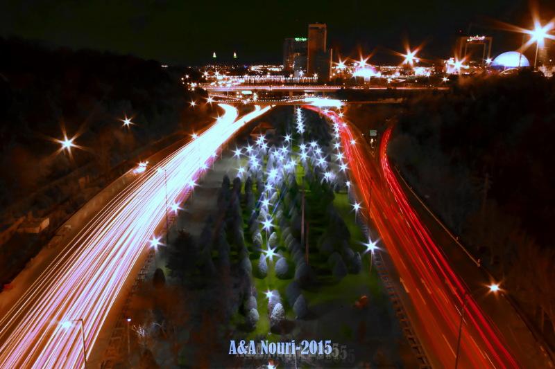 Modarres  highway at night