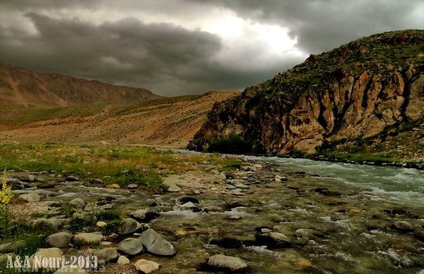 river through Lar area