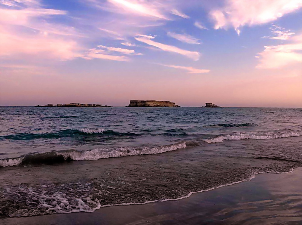 Mysterious beach of Naz in Persian gulf