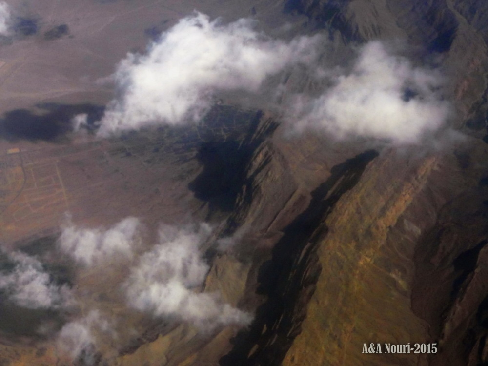 high view of mountainous Iran