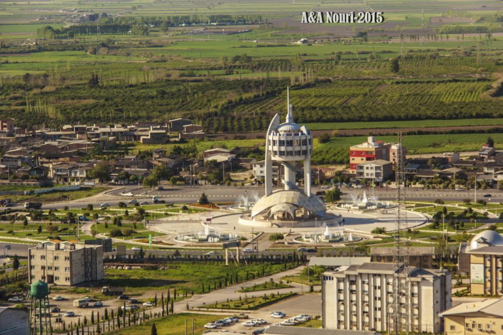 Gorgan tower aerial view