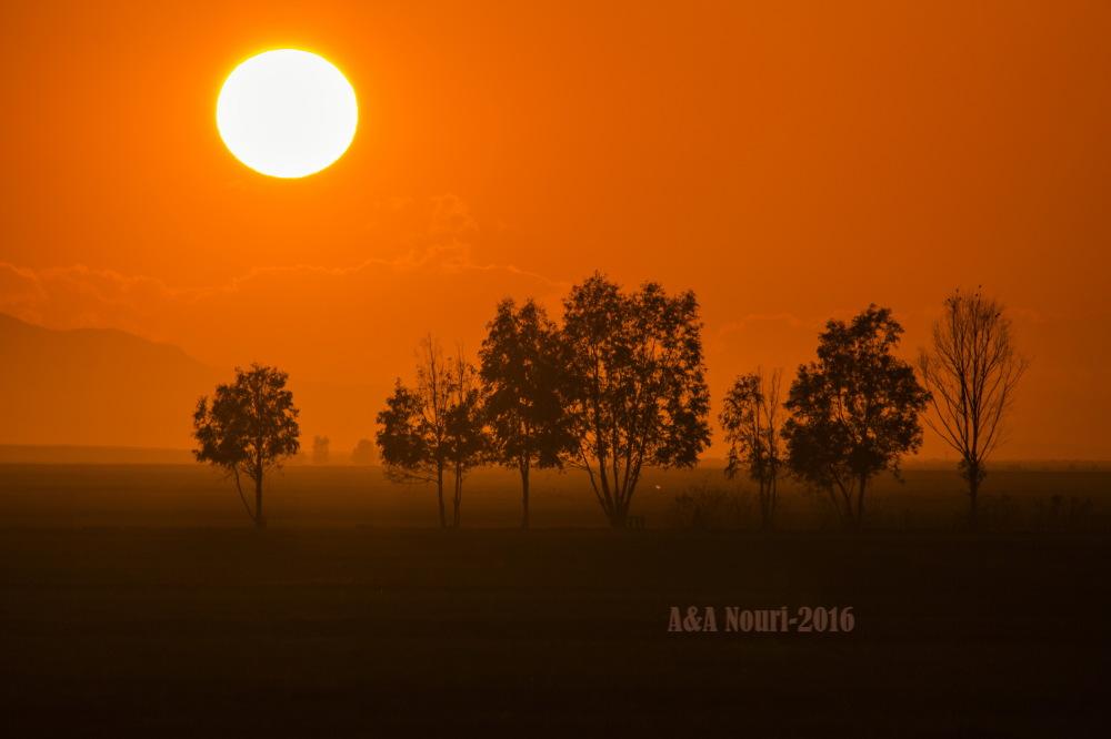 sunset warm environment