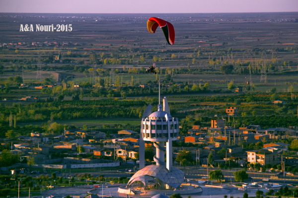 flight over Gorgan
