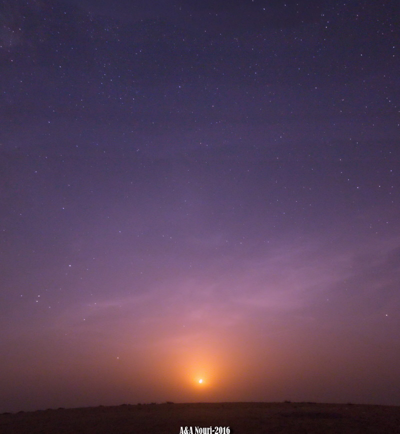 moonset at midnight