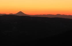 Sunset behind Damavand