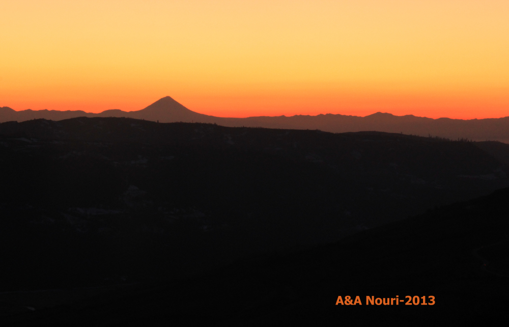 Sunset behind Damavand