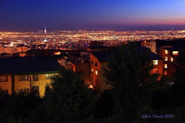 Tehran twilight