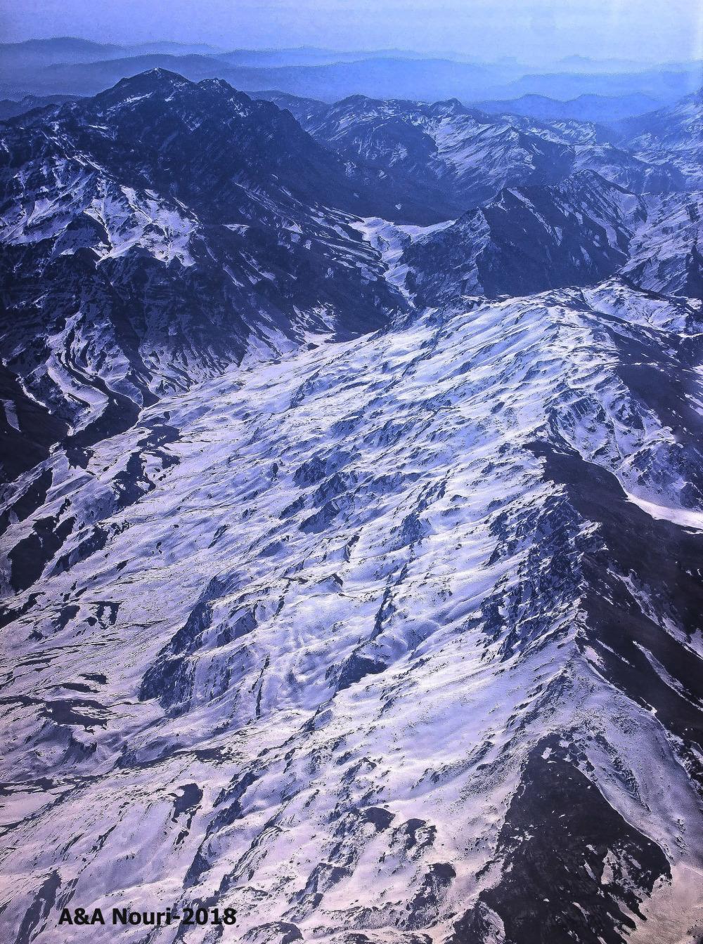 Dena mountain and miserable plane crash memorial