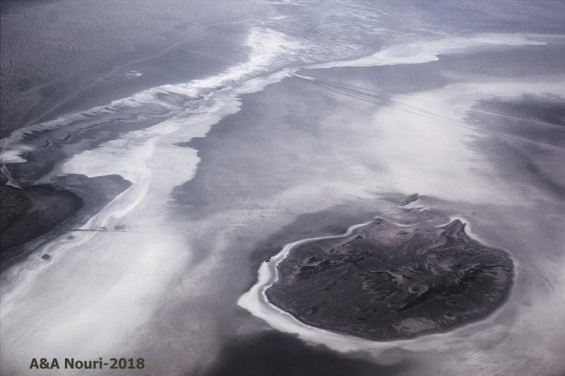 Qom Salt lake - aerial view