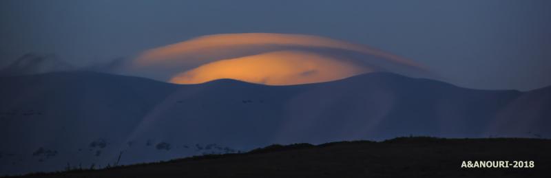 Crescent cloud
