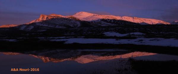 last beams of sunset