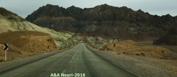 road to the desert