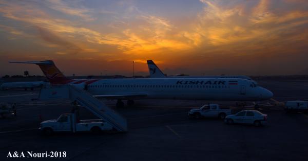 airport before sunrise