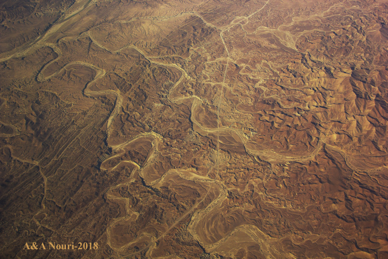 Iran plateau from above