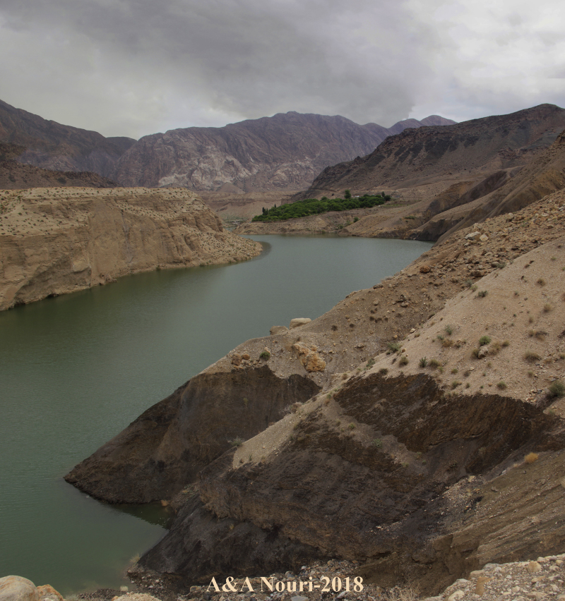 behind the dam