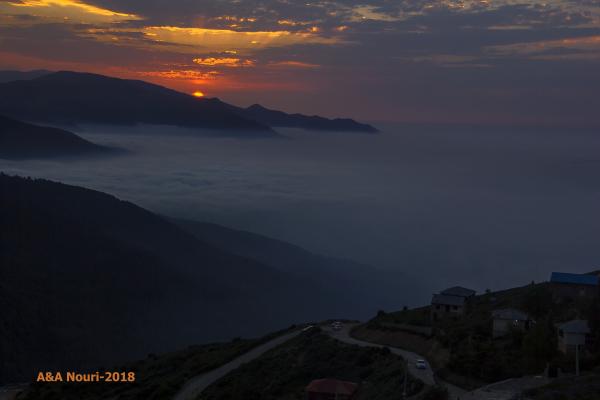 sunset of highlands