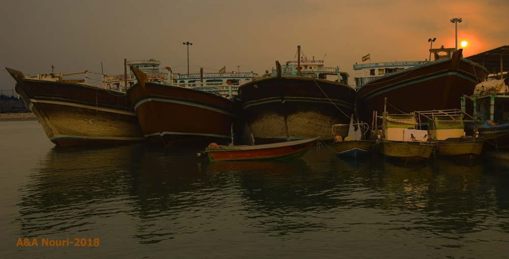 sunrise of the port