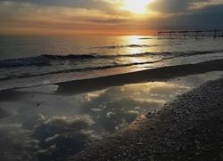 Sunrise of the beach