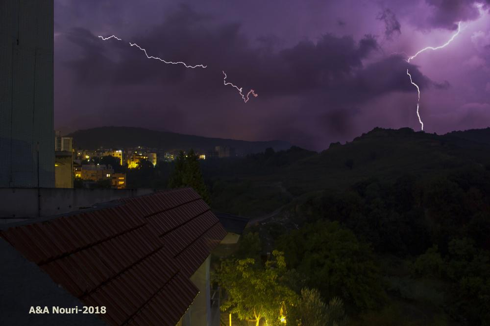 last night's lightnings