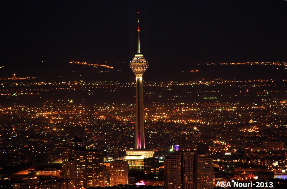 Milad tower at night