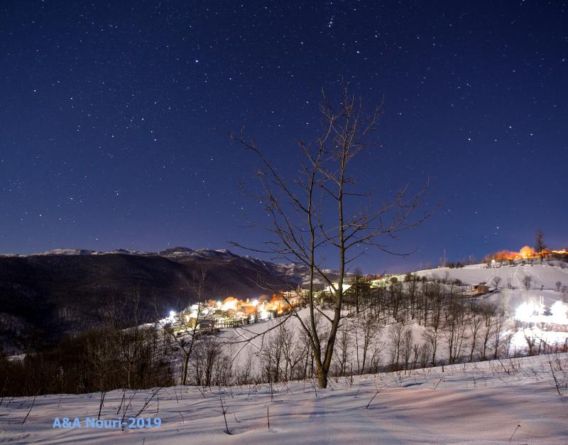 winter starry night