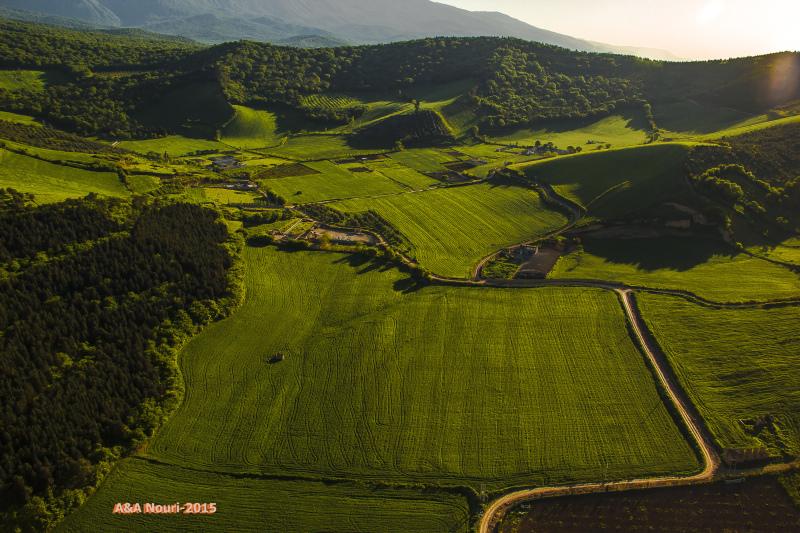 Gorgan plain aerial view
