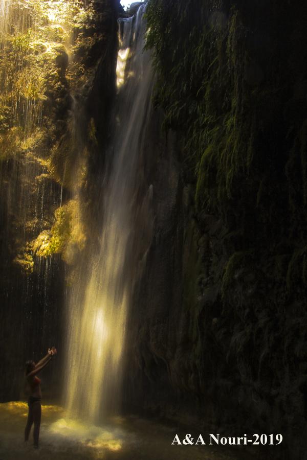 Gizlikent waterfall