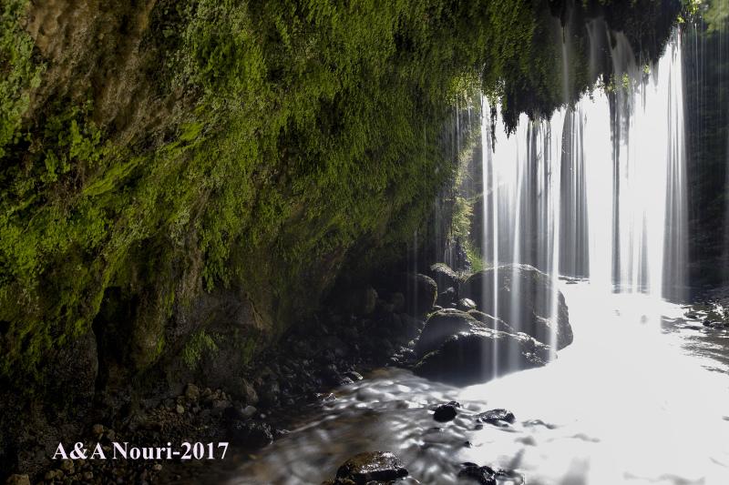 bright waterfall