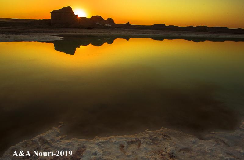 sunset reflection of kaloutes