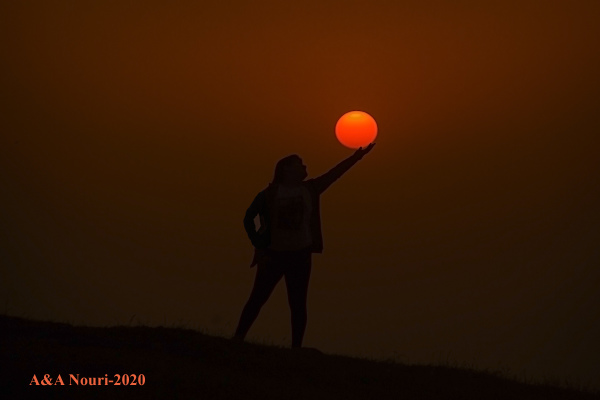 touching sun
