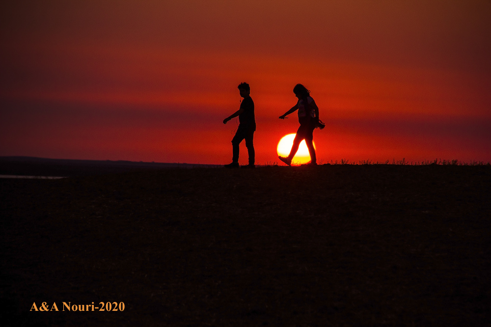 sunset jogging