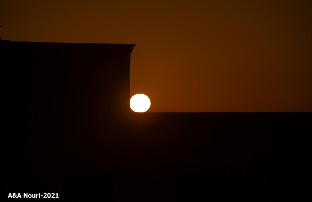 touching of the sunrise