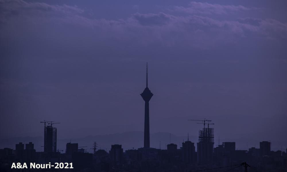 Tehran silhouettes