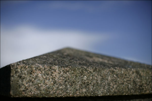 A granite capping against the sky