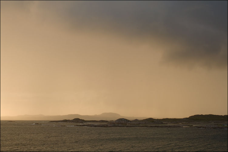 a storm clearing from iona scotland