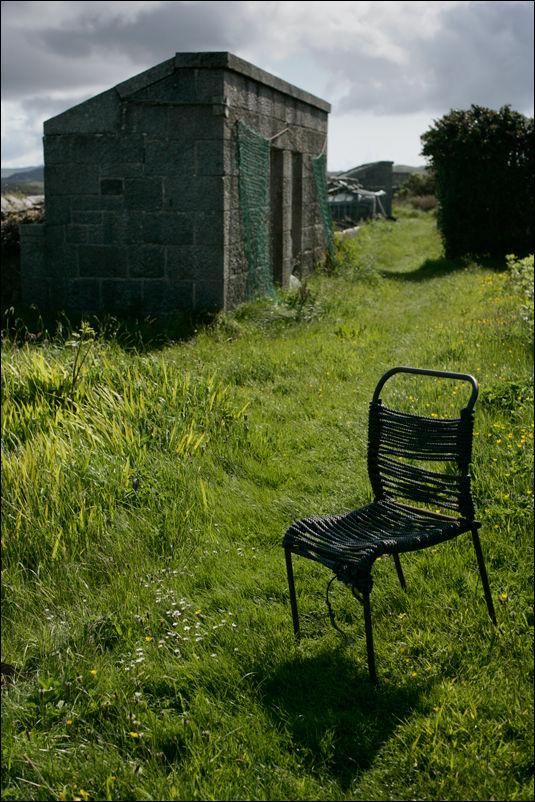 chair in erraid's garden