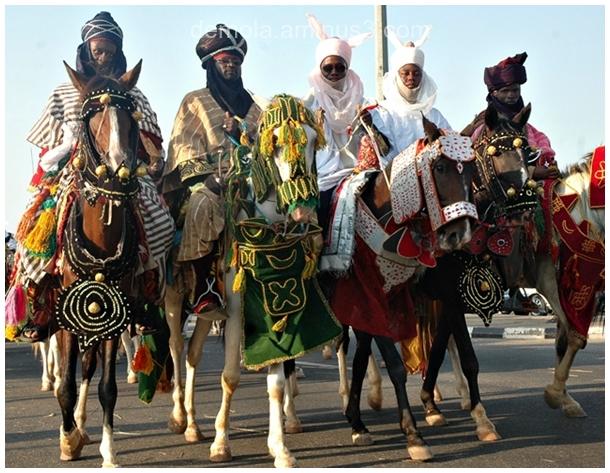 DURBAR DISPLAY DURING A MUSLIM FESTIVAL IN BAUCHI