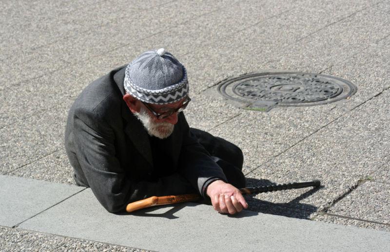 Street beggar in Istanbul