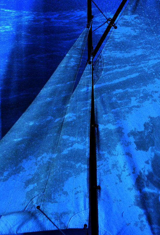boat sea blue