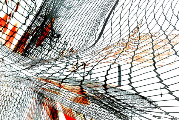 wire netting abstract